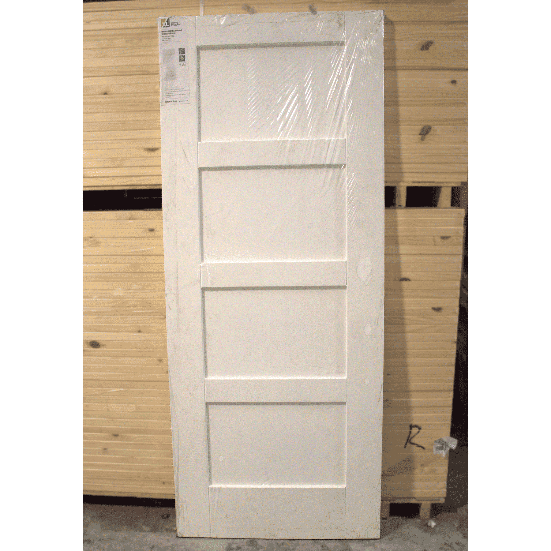 2040mm x 826mm x 40mm xl joinery shaker 4 panel white for 12 panel door