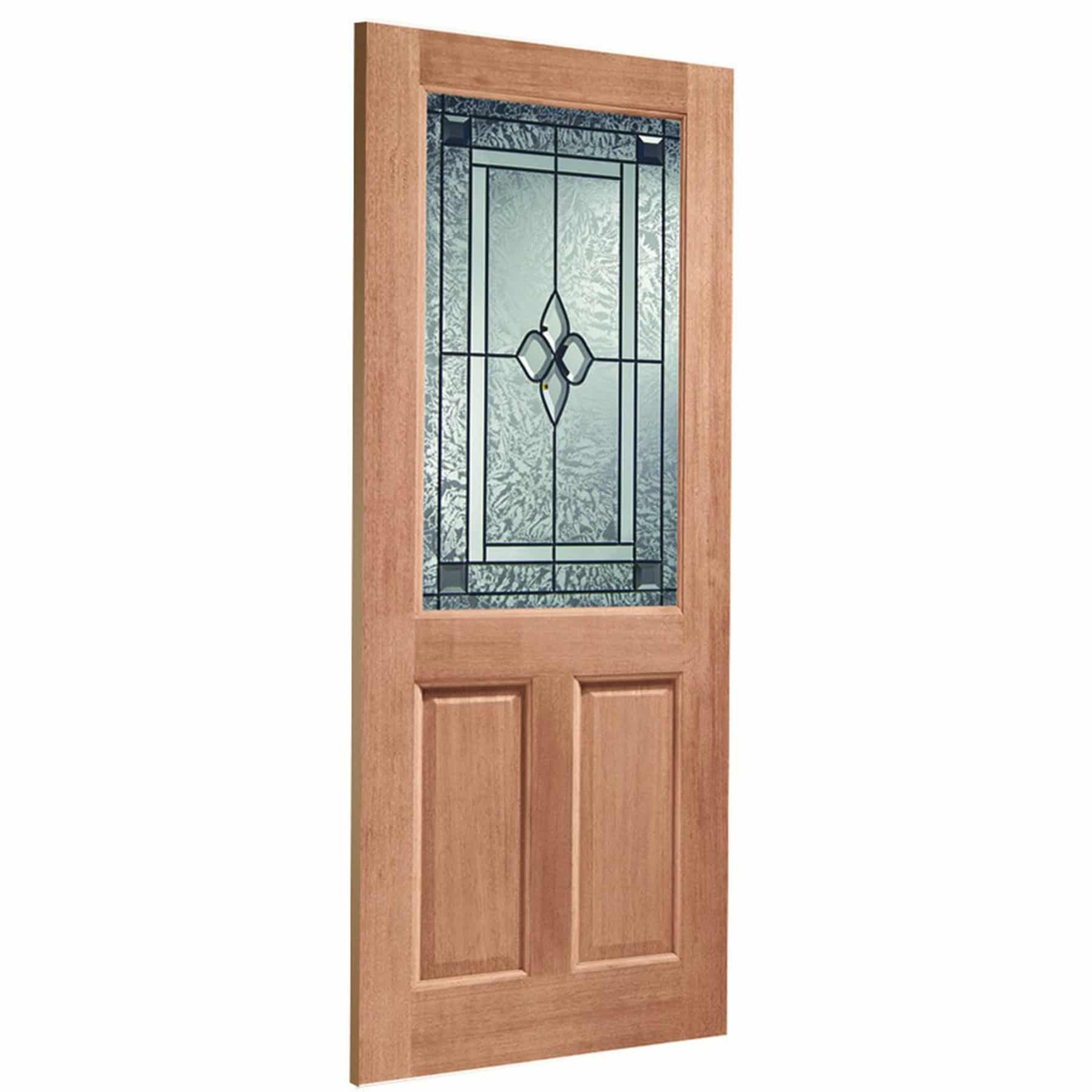 2XG Double Glazed External Hardwood Door (M&T) with Coleridge Glass