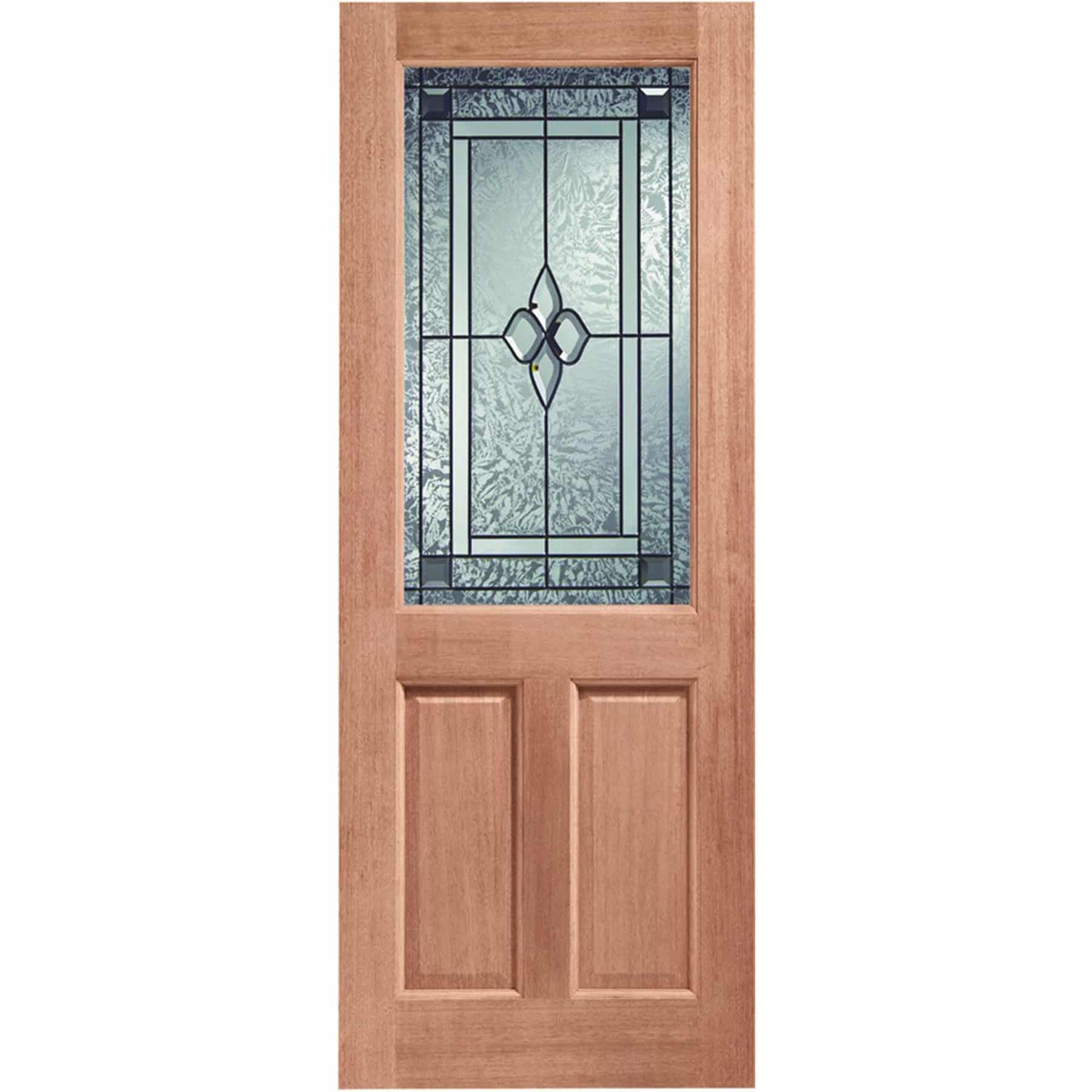 2xg double glazed external hardwood door m t with for Hardwood entrance doors