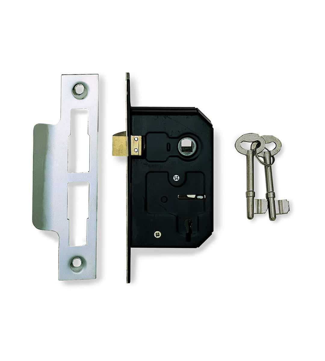 3 Lever Mortice Sash Lock Nickel