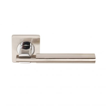 Chronos Door Handle on Square Rose - passage