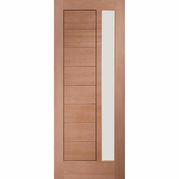 Pre-Finished Modena External Oak Door with Obscure Glass