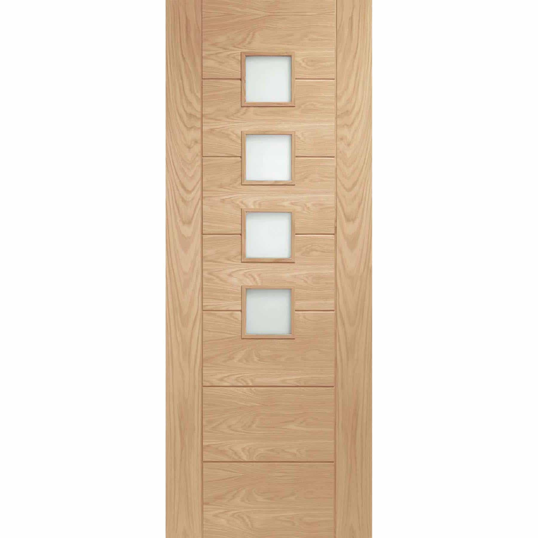 Palermo Oak Fire Door With Obscure Glass Shawfield Doors