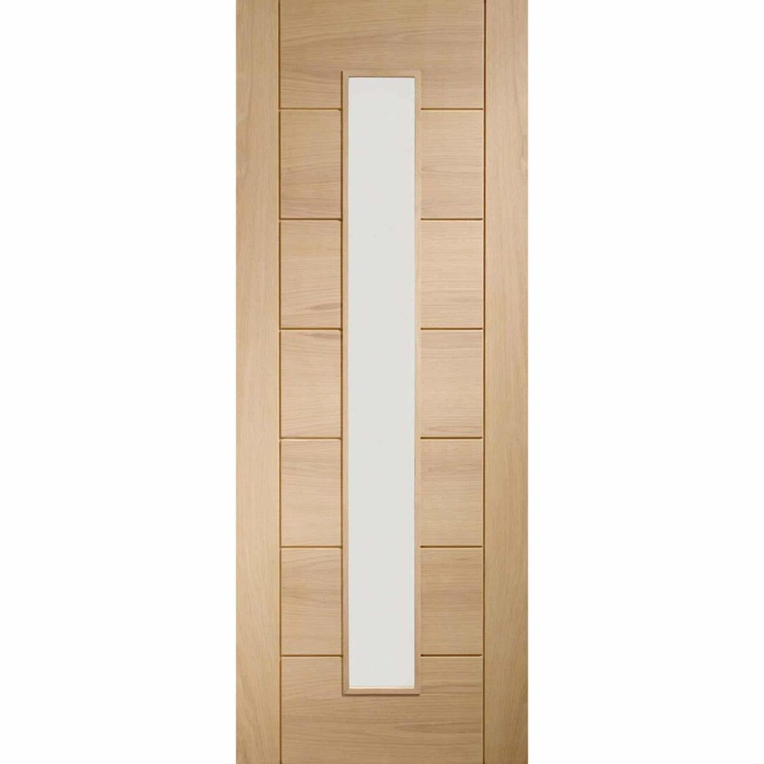 Palermo 1 Light Oak Door with Clear Glass
