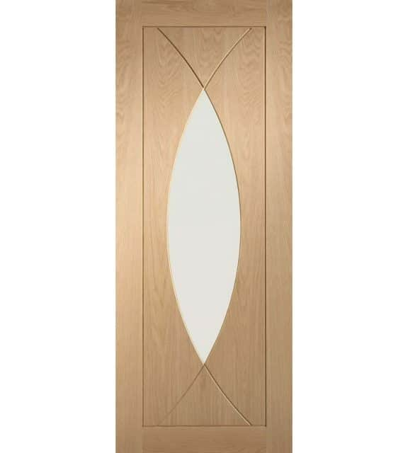 Pesaro Oak Door with Clear Glass