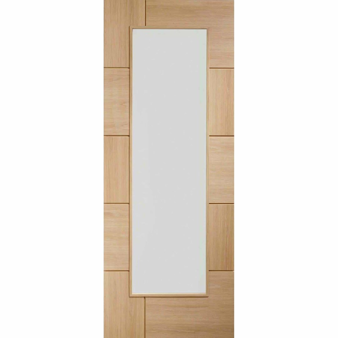 Ravenna Oak Door with Clear Glass