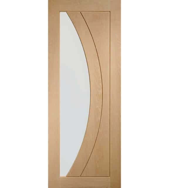 Salerno Oak Door with Clear Glass