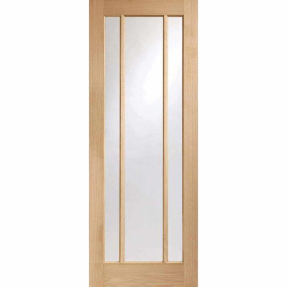 Worcester 3 Panel Oak Door with Clear Glass