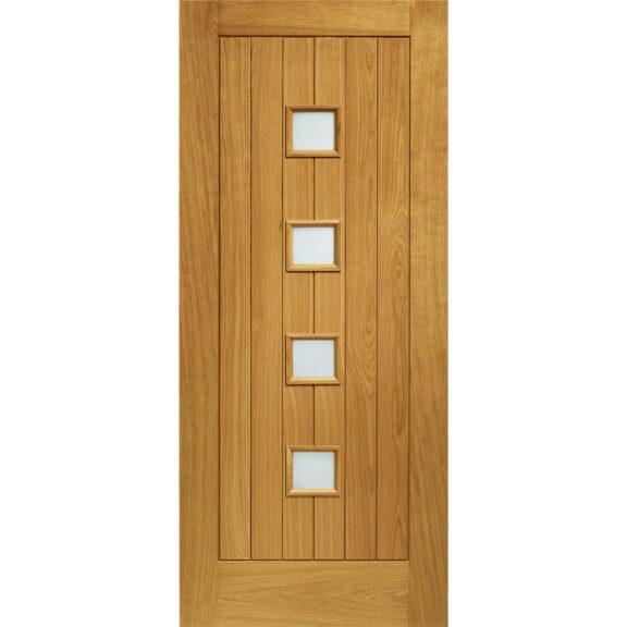Pre-Finished Siena with Obscure Glass External Oak Door