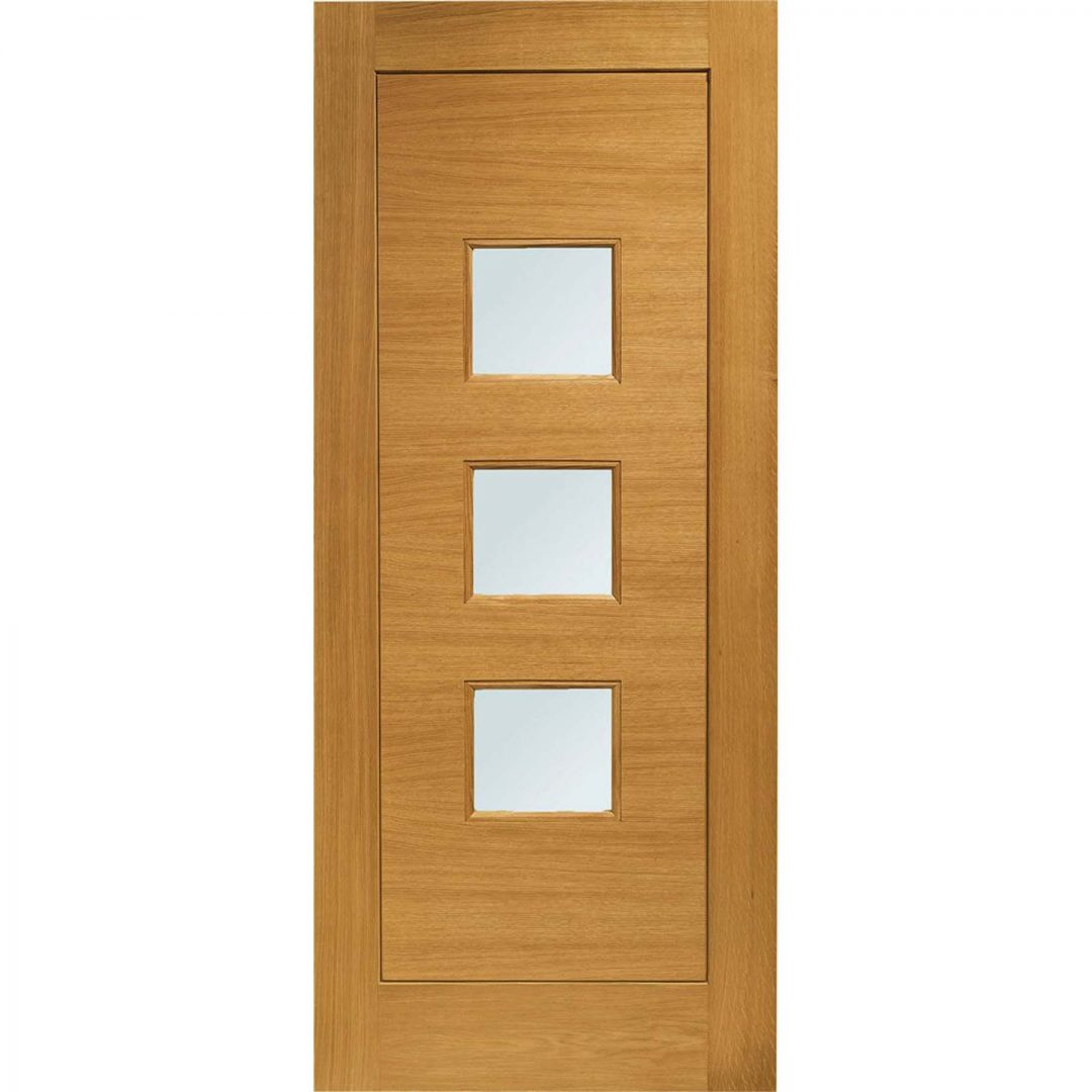 Pre-Finished Turin with Obscure Glass External Oak Door