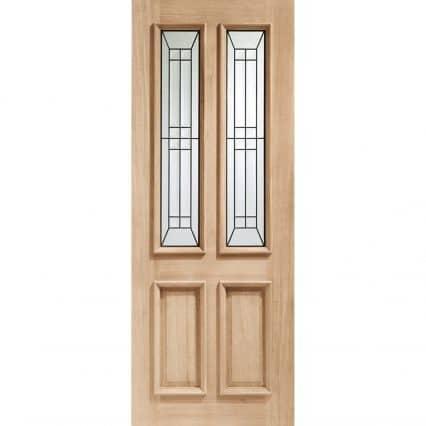 XL Joinery Malton Diamond Triple Glazed Oak External Door - 1981mm-x-762mm-x-44mm