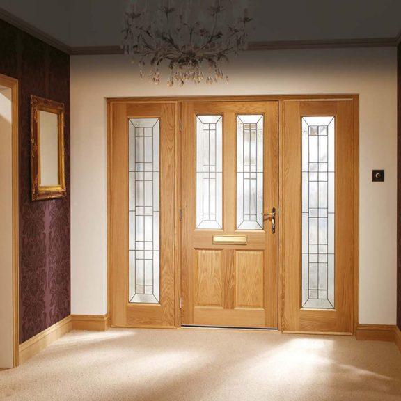 Malton Diamond Triple Glazed External Oak Door