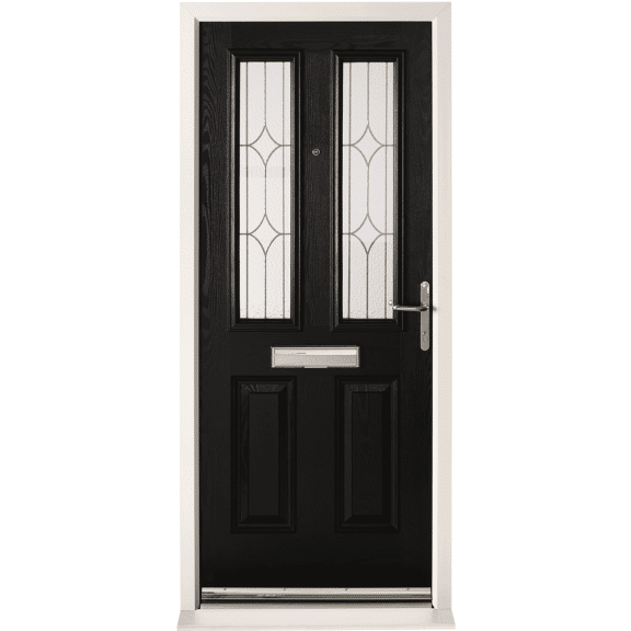 Chancery with Obscure Glass External Composite Doorset