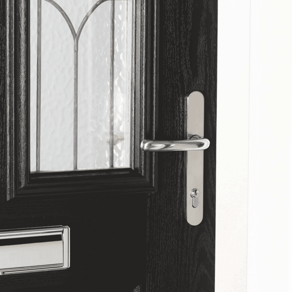 Chancery with Obscure Glass External Composite Doorset Handles