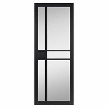 JB Kind City Black Clear Glass Internal Door - 1981mm-x-838mm-x-35mm-2
