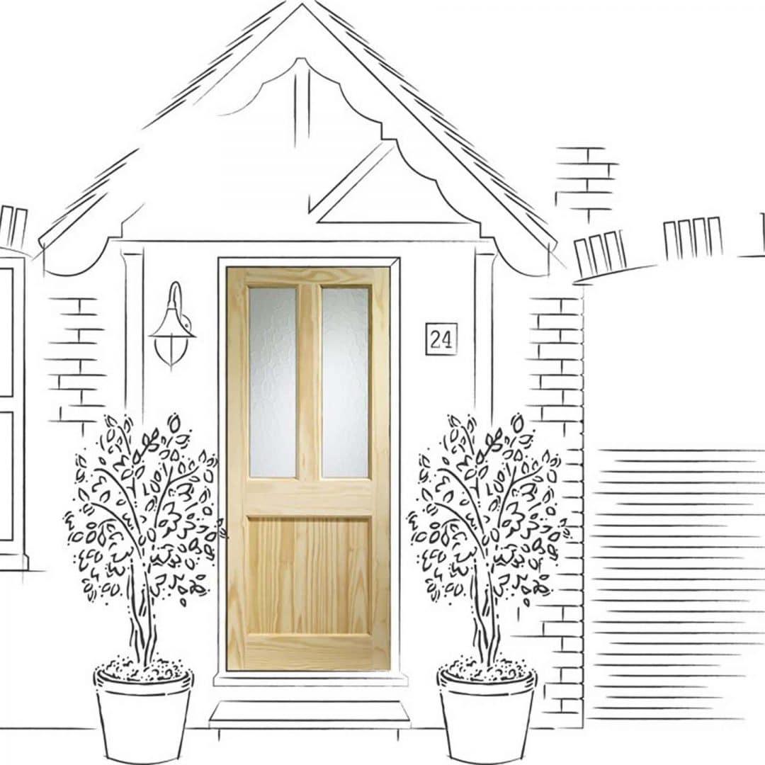 XL Joinery Malton External Pine Door