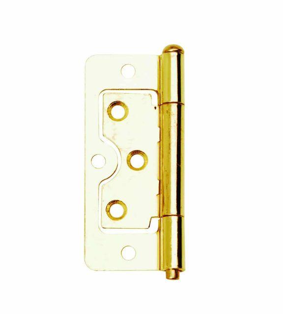 Flush Hinge 76mm Electro Brass