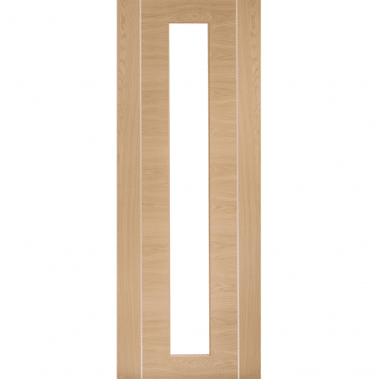 Foril Pre-Finished Oak Internal Glazed Door with Clear Glass - 2040mm-x-826mm-x-40mm