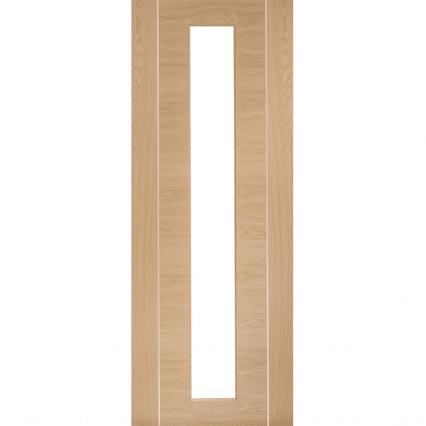 XL Joinery Forli Pre-Finished Oak Internal Glazed Door with Clear Glass - 1981mm-x-762mm-x-35mm
