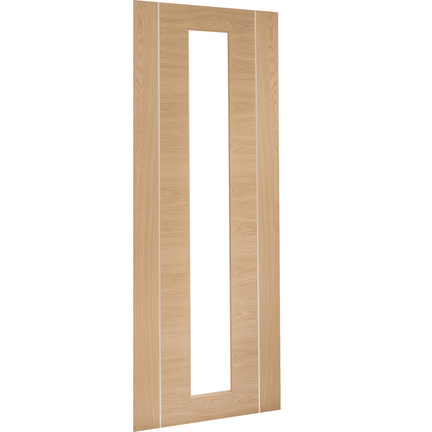 Forli Pre-Finished Internal Oak Door with Clear Glass