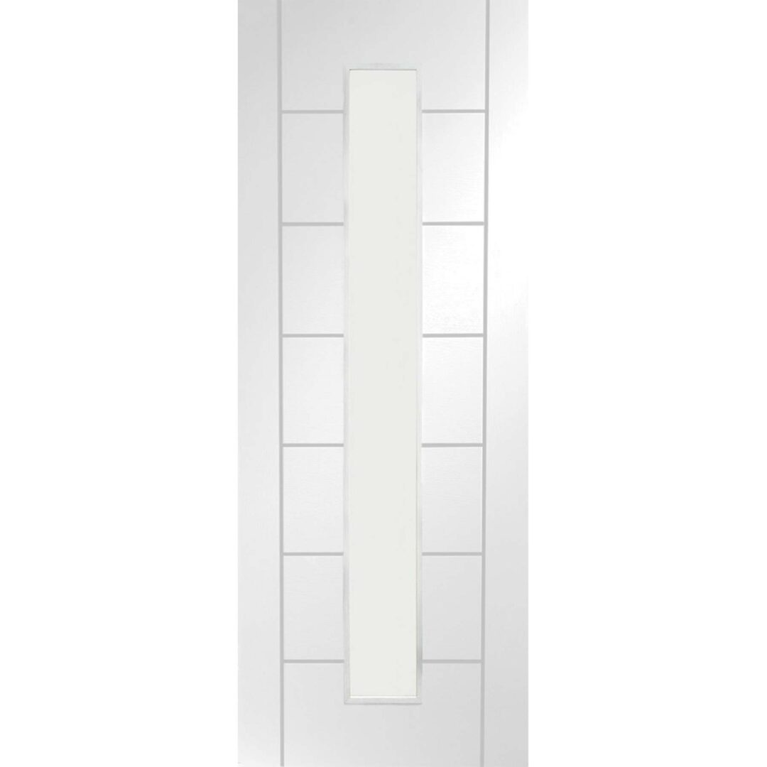 XL Joinery Palermo 1 Light Internal White Primed Door with Clear Glass