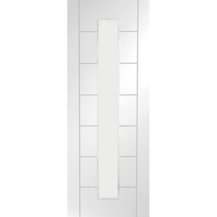 XL Joinery Palermo 1 Light Internal White Primed Door with Clear Glass - 1981mm-x-686mm-x-35mm