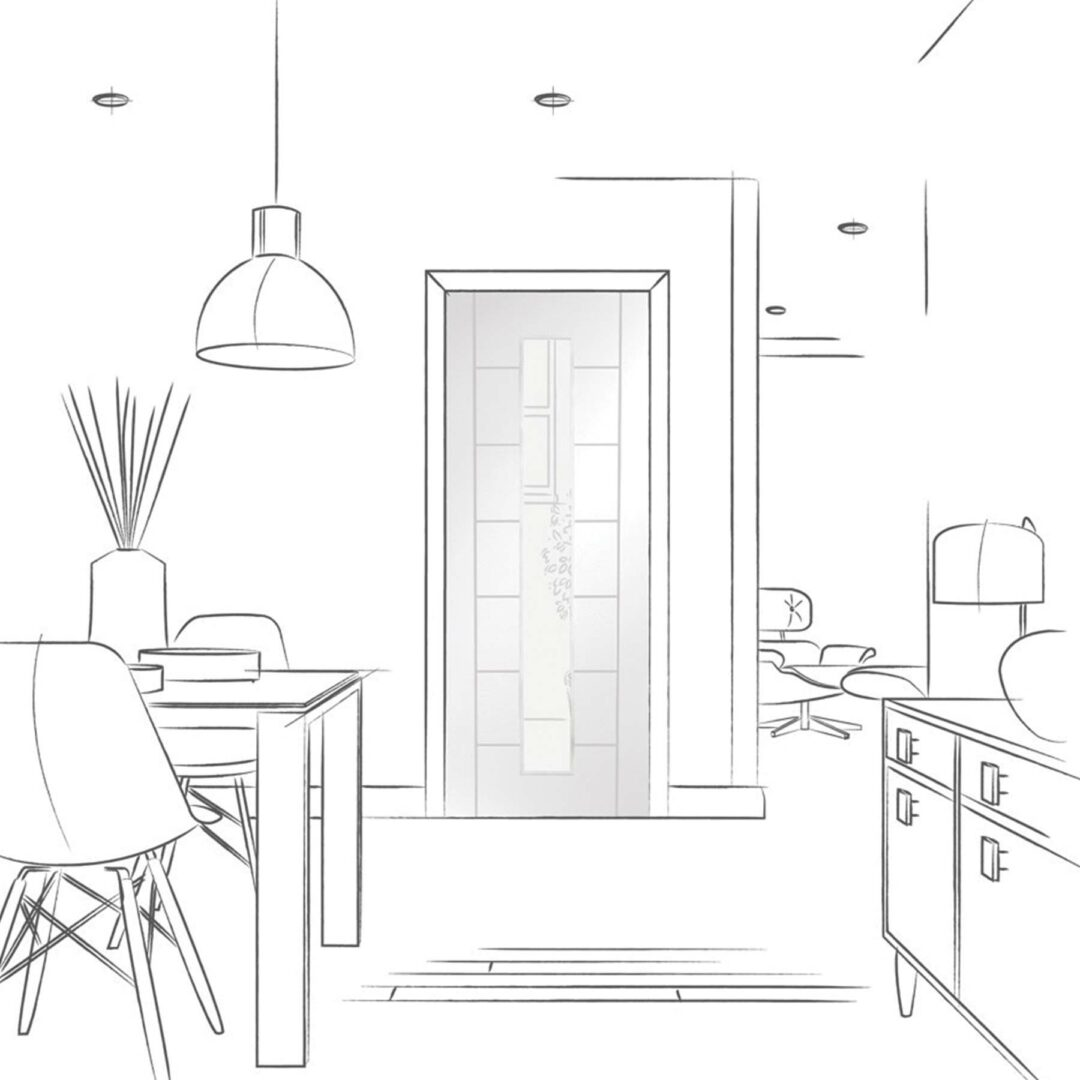 XL Joinery Palermo 1 Light Interior White Door with Clear Glass