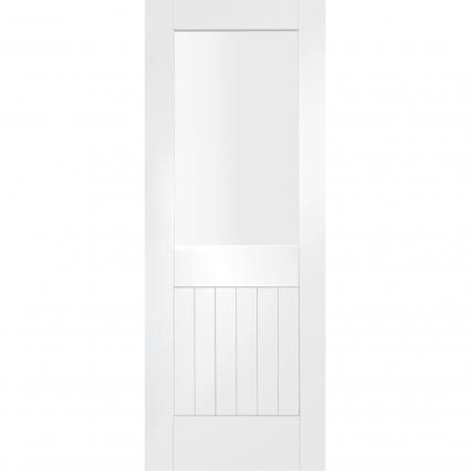 Suffolk 1 Light White Primed Internal Door with Clear Glass - 1981mm-x-610mm-x-40mm-78-x-24