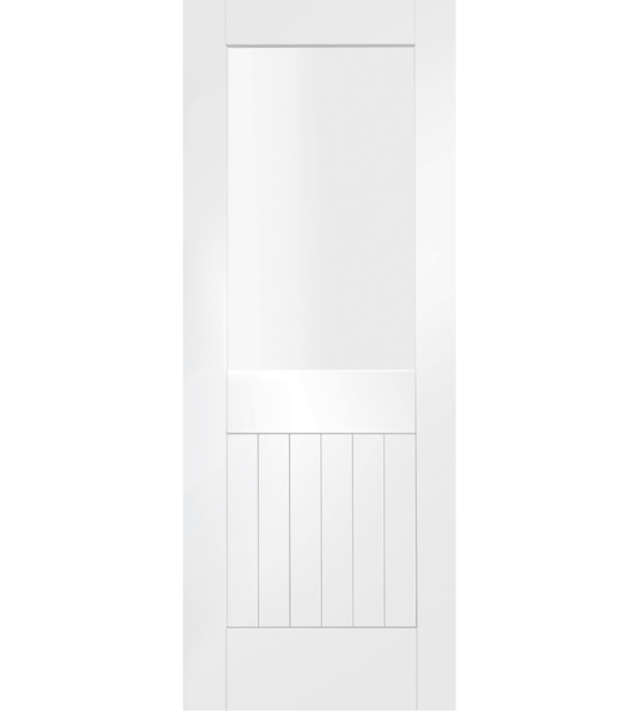 Suffolk 1 Light Internal White Primed Door with Clear Glass