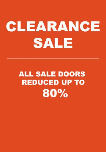 Clearance Door Sale