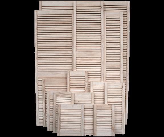 Pine Louvre Door Range