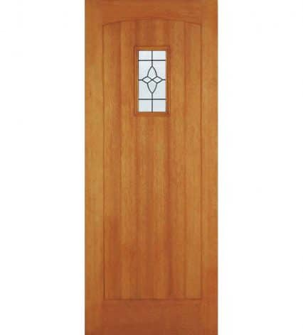 M&T Cottage Hardwood Door With Glazing - 1981mm-x-838mm-x-44mm