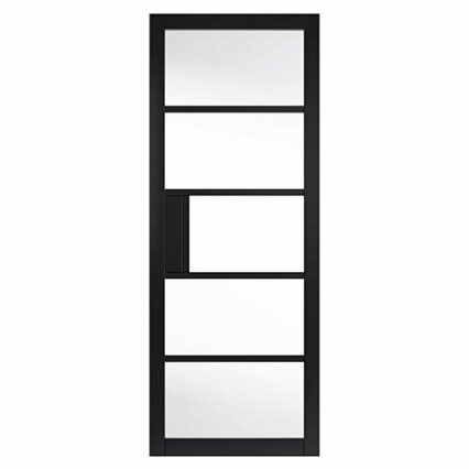 JB Kind Metro Black Clear Glass Internal Door - 1981mm-x-838mm-x-35mm-2