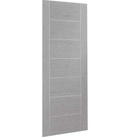 Palermo Pre-Finished Light Grey interior Door skew