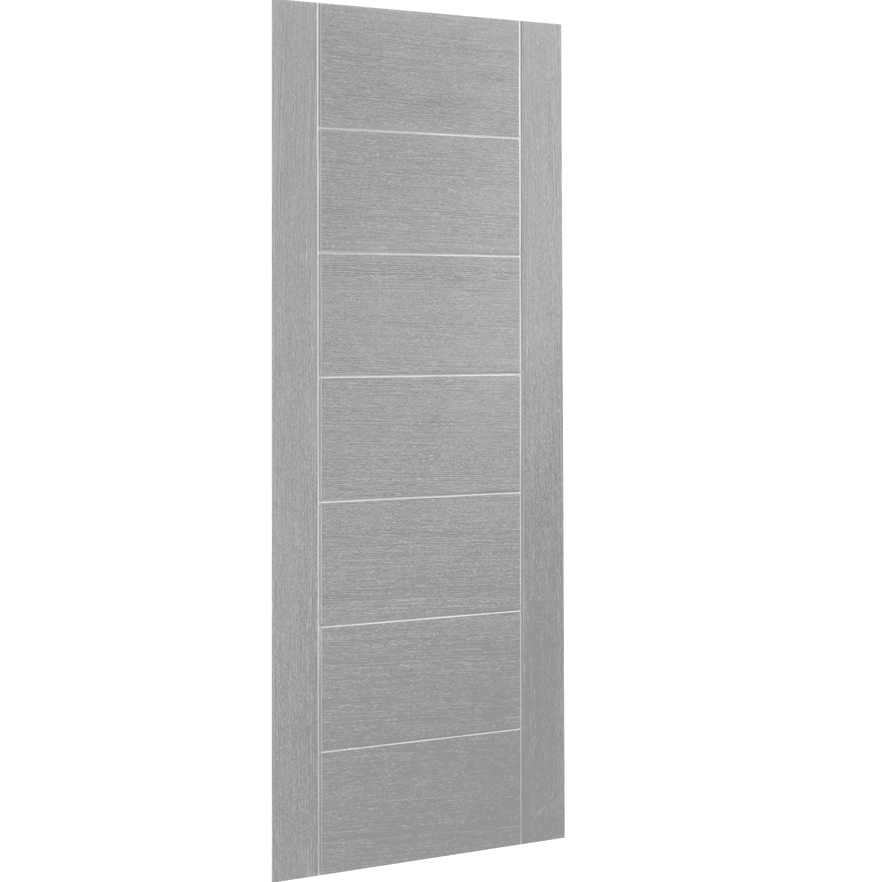 Palermo Pre-Finished Light Grey interior Door skew