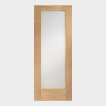 Xl Joinery Pattern 10 Internal Oak Door with Clear Glass - 2040mm-x-826mm-x-40mm-2