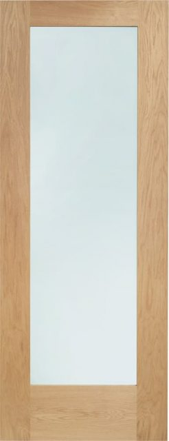 Pattern 10 Internal Oak Door with Clear Glass with Clear Glass