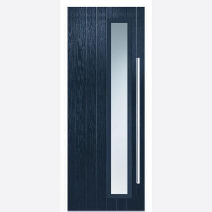 LPD SHARDLOW BLUE GLAZED EXTERNAL DOOR SET - blue - 2030-x-890-x-44-35 - right-handed-glazed