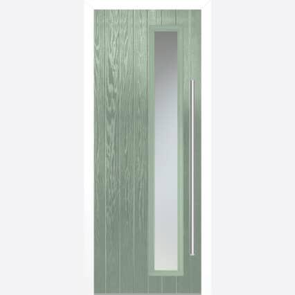 LPD SHARDLOW CHARTWELL GREEN GLAZED EXTERNAL DOOR SET - green - 2030-x-890-x-44-35 - right-handed-glazed