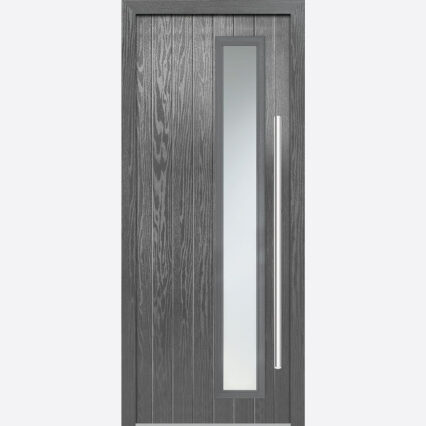 LPD SHARDLOW GREY GLAZED EXTERNAL DOOR SET - grey - 2030-x-890-x-44-35 - right-handed-glazed