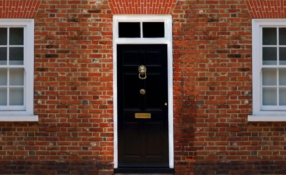 Black External UK House Door