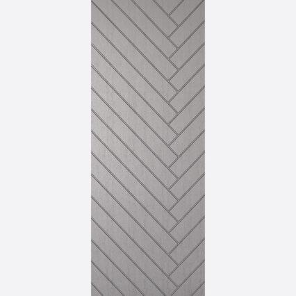 LPD SILVER EMBOSSED BEXHILL External Door - silver - 1981mm-x-762mm-x-44mm