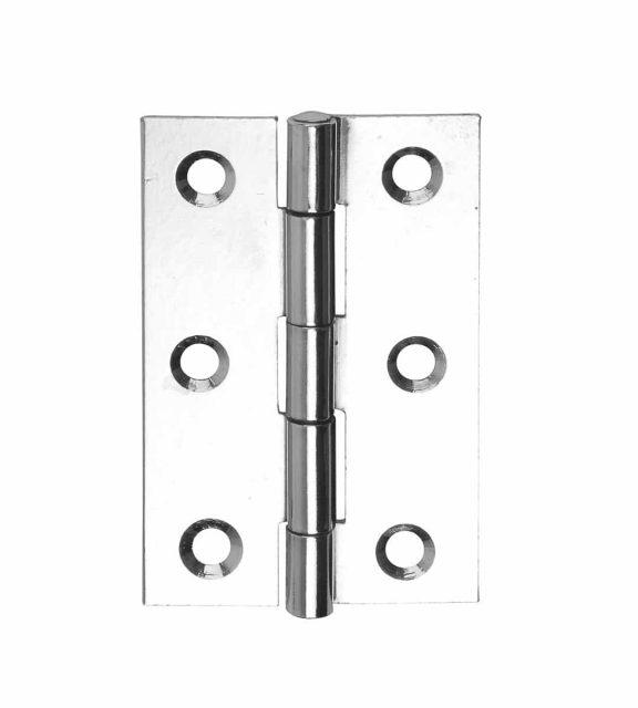 Steel Butt Hinge 76mm Polished Chrome