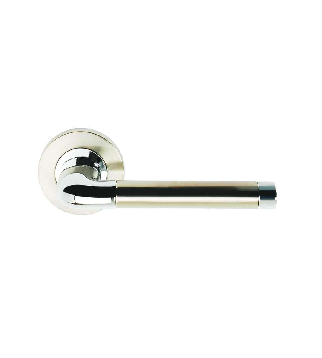 Argo Satin Nickel Polished Chrome Door Handle