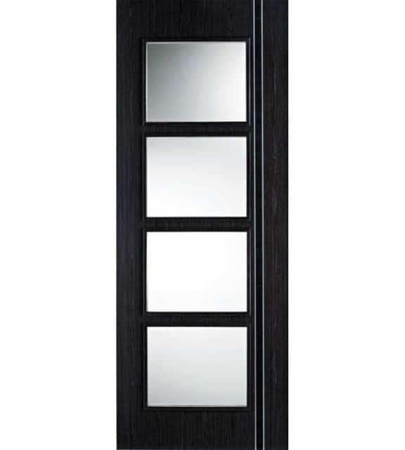 Ash Grey Zanzibar Black Glazed Internal Door