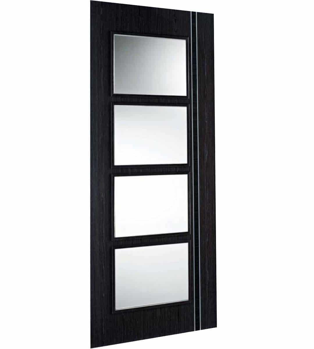 Ash Grey Zanzibar Glazed Interior Black Door