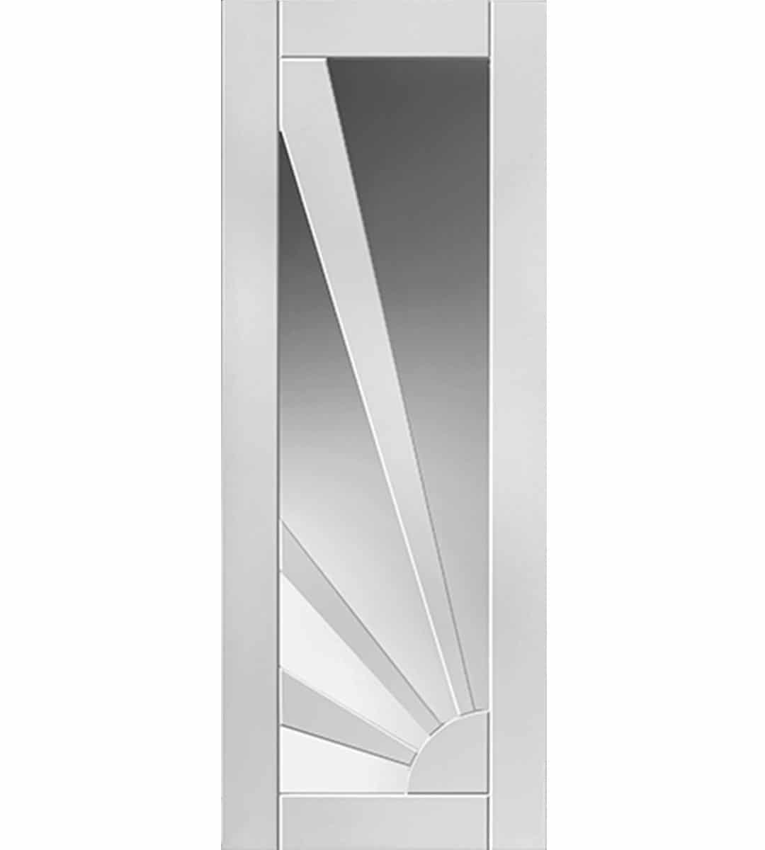 aurora white glazed internal door