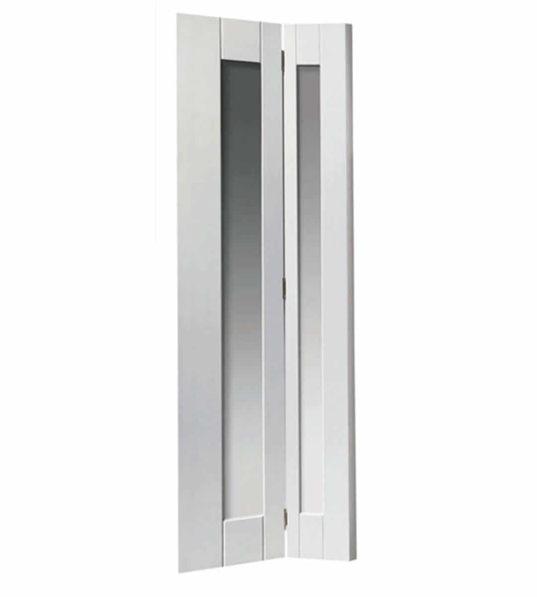 axis internal white glazed bifold door