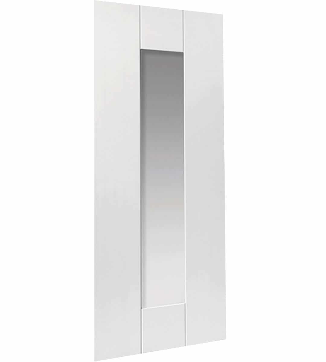 Axis Interior White Glass Door