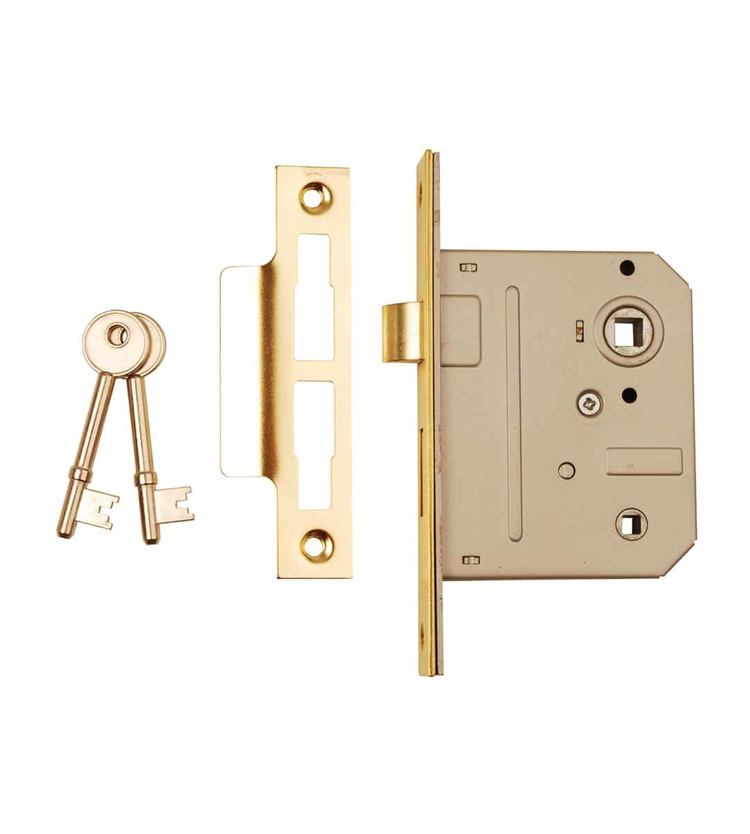 Bathroom Mortice Lock 76mm Brass